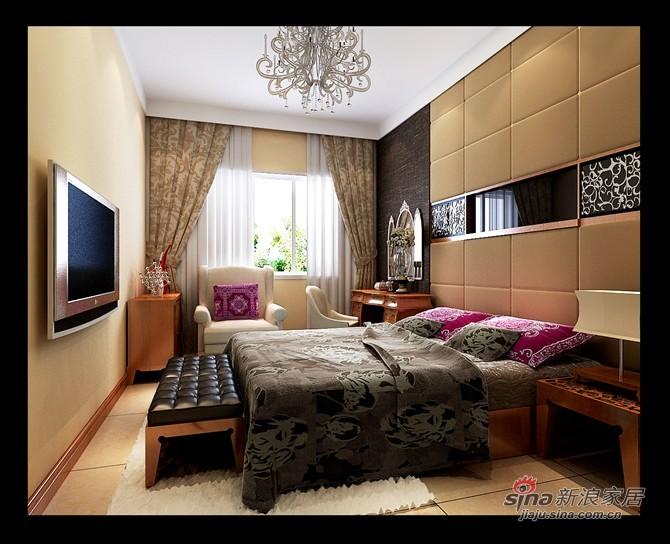 中式 四居 卧室图片来自用户1907662981在不一样的中式风打造保利香槟国际四居室51的分享