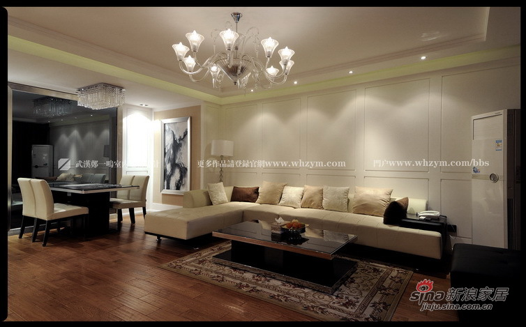 简约 二居 客厅图片来自郑一鸣室内建筑设计工作室在100平温暖简欧舒适2居24的分享