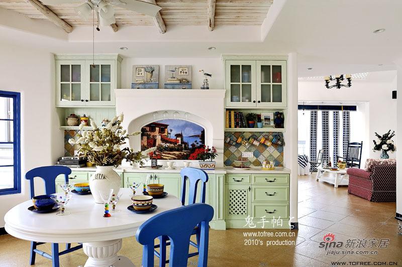 地中海 复式 餐厅图片来自用户2757320995在220平慵懒午后时光 恬淡地中海复式20的分享
