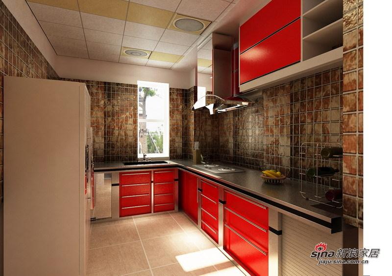 简约 二居 厨房图片来自用户2738845145在8.5万铸造简约奢华的三居室54的分享