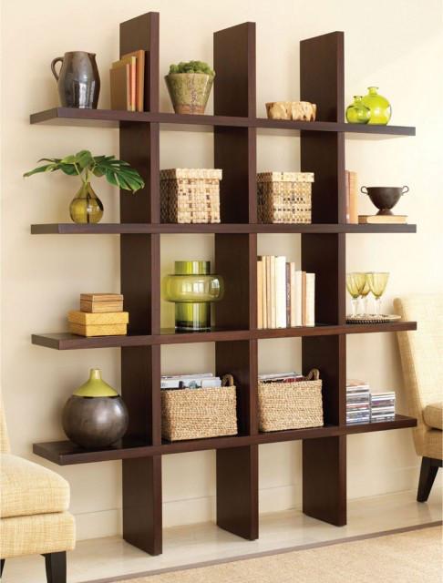 这样一个小书架是不是很节省空间呢?还可以展示许多你喜欢的小玩意儿,展示柜,书架,书房
