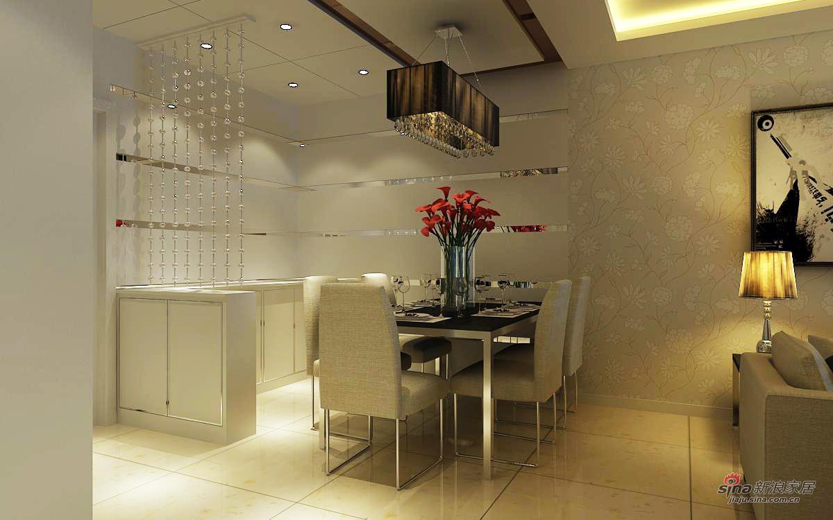 简约 三居 餐厅图片来自用户2739081033在现代简约效果图~金地朗悦41的分享