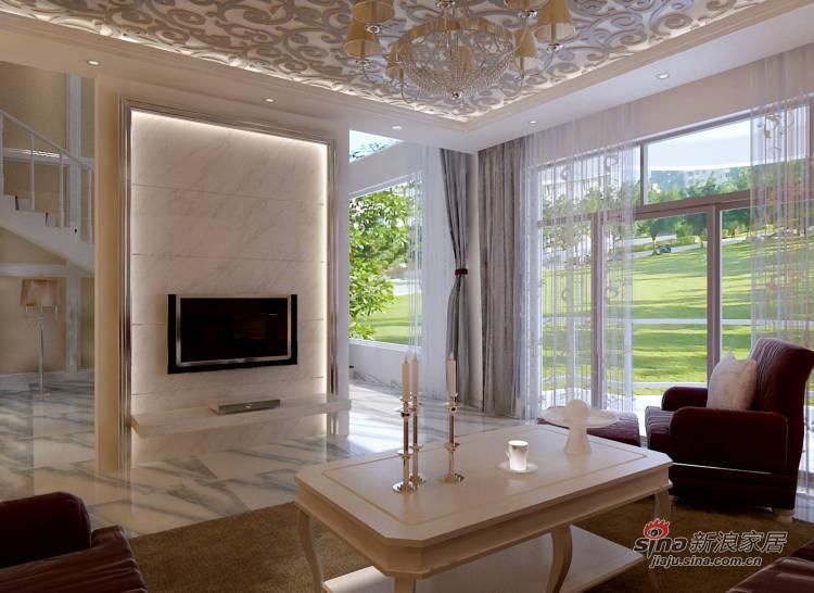 欧式 别墅 客厅图片来自用户2757317061在270平欧式风格别墅79的分享