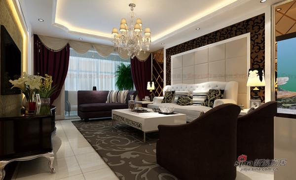参考案例:简欧风格|客厅沙发背景效果图