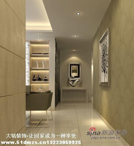 现代简约风格家庭装修设计-玄关设计效果图