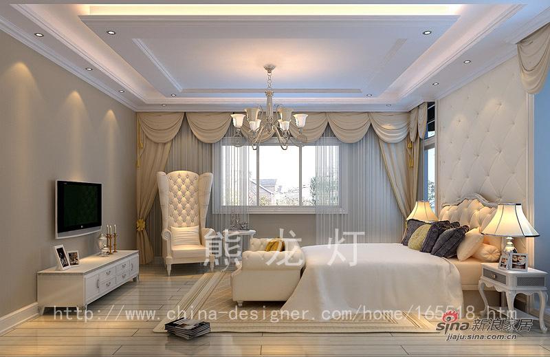 混搭 别墅 卧室图片来自用户1907655435在格拉斯小镇-熊龙灯58的分享