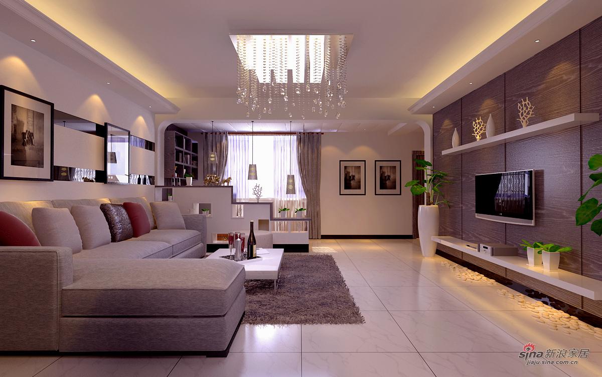 简约 二居 客厅图片来自用户2739081033在唯美89平两居16的分享