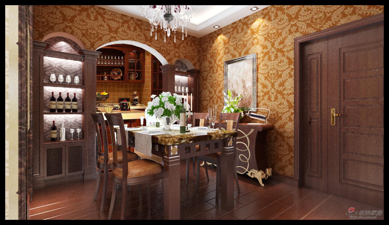 欧式 三居 餐厅图片来自用户2746869241在华丽大气 113平欧式风情居29的分享