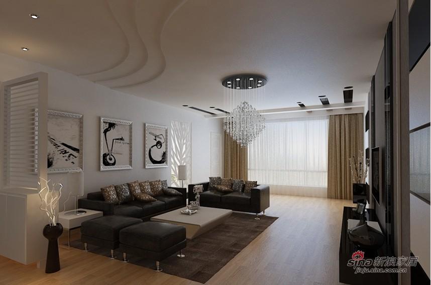简约 三居 客厅图片来自用户2558728947在11万打造恒盛豪庭176平米现代简约三居56的分享