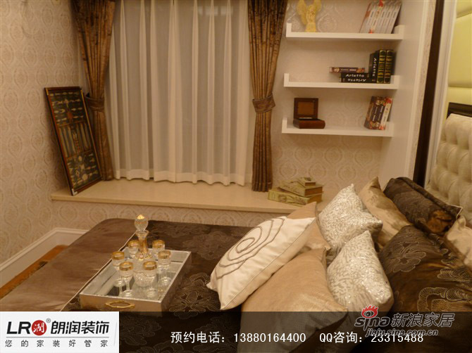 混搭 三居 卧室图片来自装修微日记在【高清】9万打造104平都市简欧三居59的分享