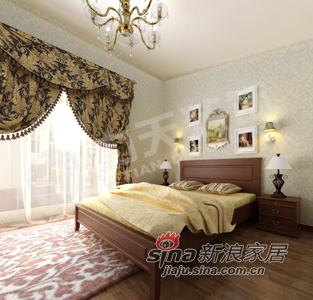 欧式 别墅 卧室图片来自阳光力天装饰在宁静、温馨、家的港湾75的分享