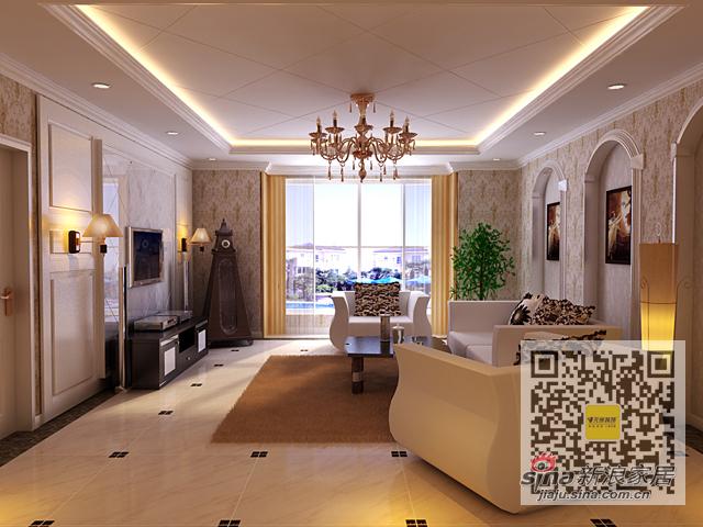 欧式 三居 客厅图片来自用户2746869241在140平三居室简欧风格装修设计案例94的分享