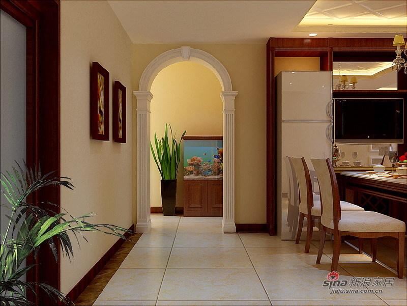 中式 三居 玄关图片来自用户1907658205在123平保利公园九里中式风格三居室36的分享