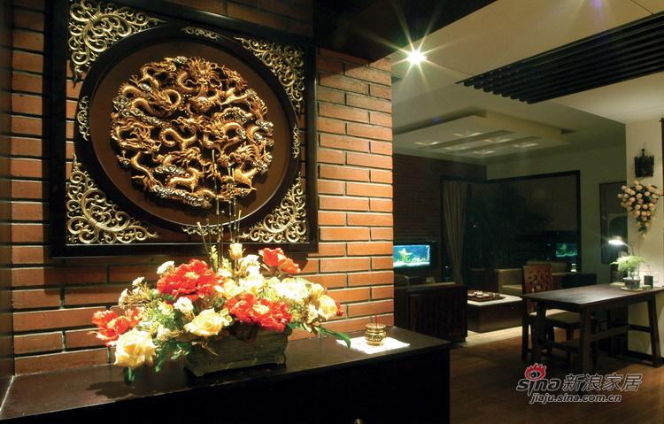 中式 三居 客厅图片来自用户1907662981在新婚夫妻新中式沉稳大气宅42的分享