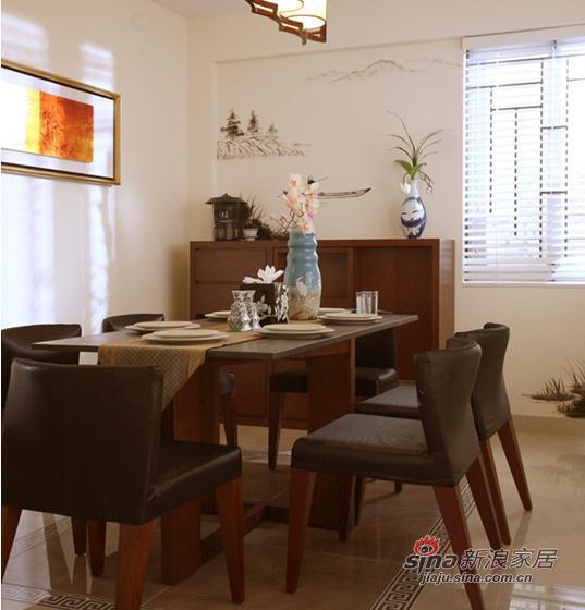 简约 复式 餐厅图片来自用户2557979841在中国风情独特复式居所19的分享