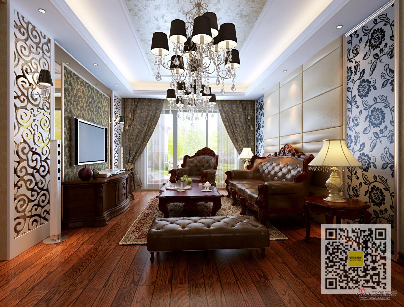 混搭 三居 客厅图片来自用户1907689327在中铁青秀城美式乡村混搭83的分享