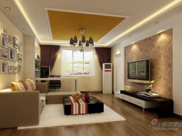 和谐演绎光谷新世界两居室简约风格43