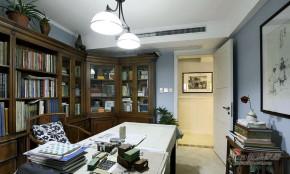 地中海 复式 书房 高富帅图片来自用户2756243717在【高清】中年夫妻160平地中海混搭复式67的分享
