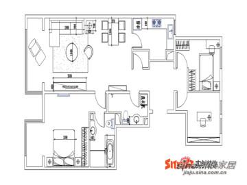 :二手房装修:北京像素130平简约设计风格89
