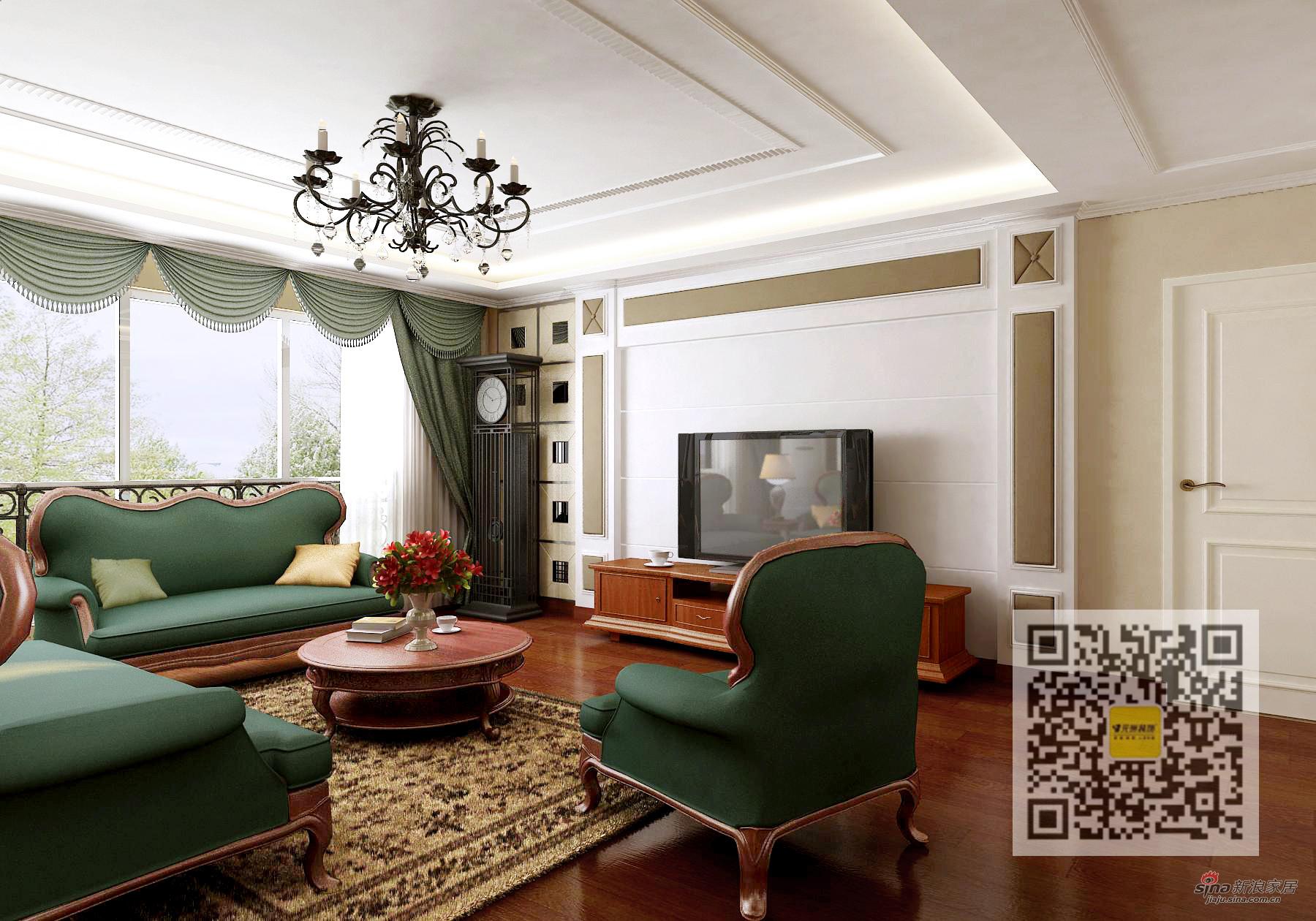 欧式 四居 客厅图片来自用户2746953981在四居室欧式风格装修案例95的分享