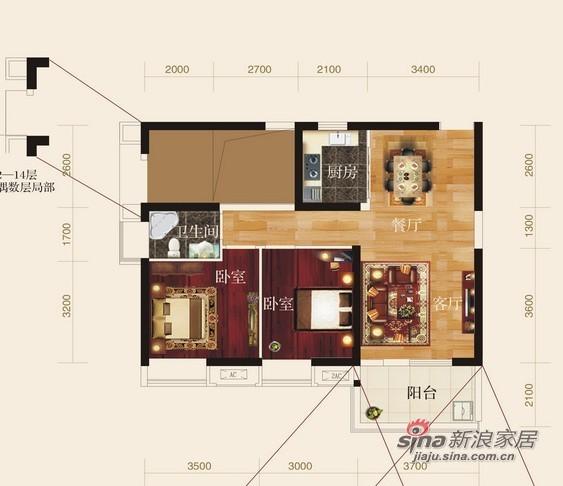 当代东湖壹号/94平简约风格/两居室装修