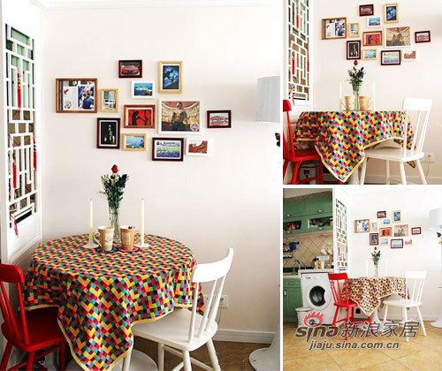 欧式 二居 餐厅图片来自用户2772856065在超强45平小资女3万软装13的分享