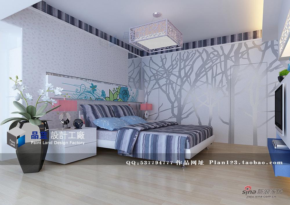 田园 四居 卧室图片来自用户2737946093在155平米《蓝色恋人》样板房41的分享