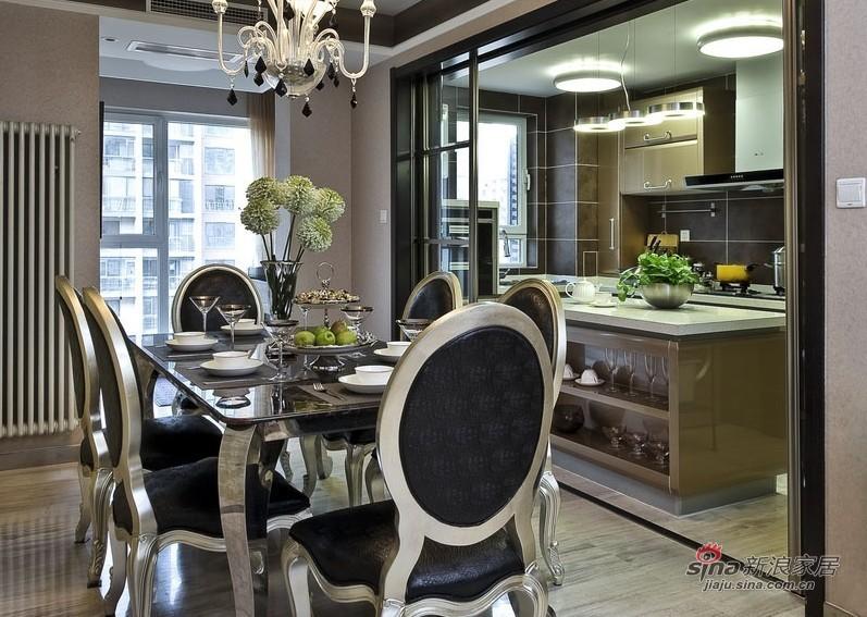新古典 三居 餐厅图片来自家装大管家在【高清】9万装102平新古典时尚居27的分享