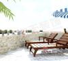 露台、休闲椅、沐浴阳光