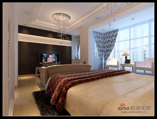 简约 别墅 卧室图片来自用户2737782783在11.9万舒适203平现代简约别墅58的分享