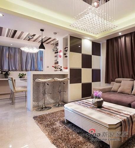 新古典 一居 客厅图片来自用户1907664341在9万装70平新古典时尚新家88的分享
