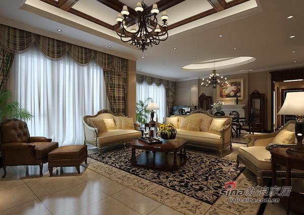 美式 别墅 客厅图片来自用户1907686233在美式滨海湖装修设计方案64的分享