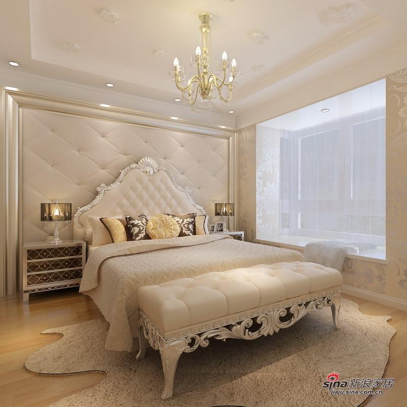 欧式 复式 卧室图片来自用户2745758987在130平欧式高贵浪漫质感家居78的分享