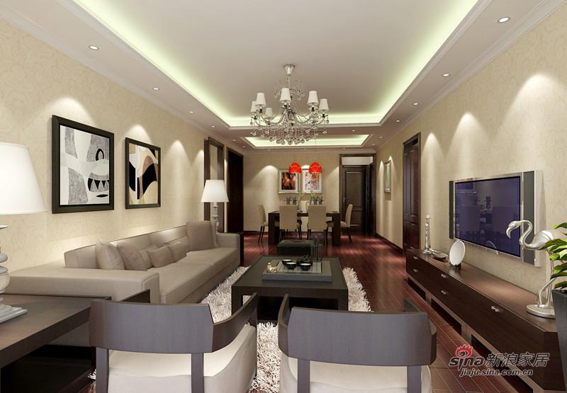 简约 三居 客厅图片来自用户2738829145在15万装修华贸城126平米三居93的分享