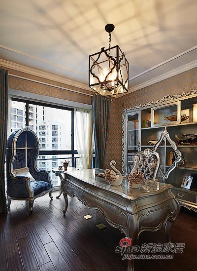 新古典 三居 书房 白富美图片来自用户1907701233在【高清】134平新古典精致大气3居26的分享