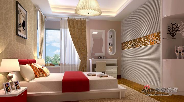 简约 二居 卧室图片来自用户2739081033在天津实创-松江城现代简约两居34的分享