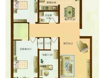 10万元打造 恒盛豪庭 178平 现代简约66