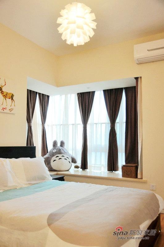 北欧 二居 卧室图片来自佰辰生活装饰在54平清新完美宜家风2室1厅55的分享