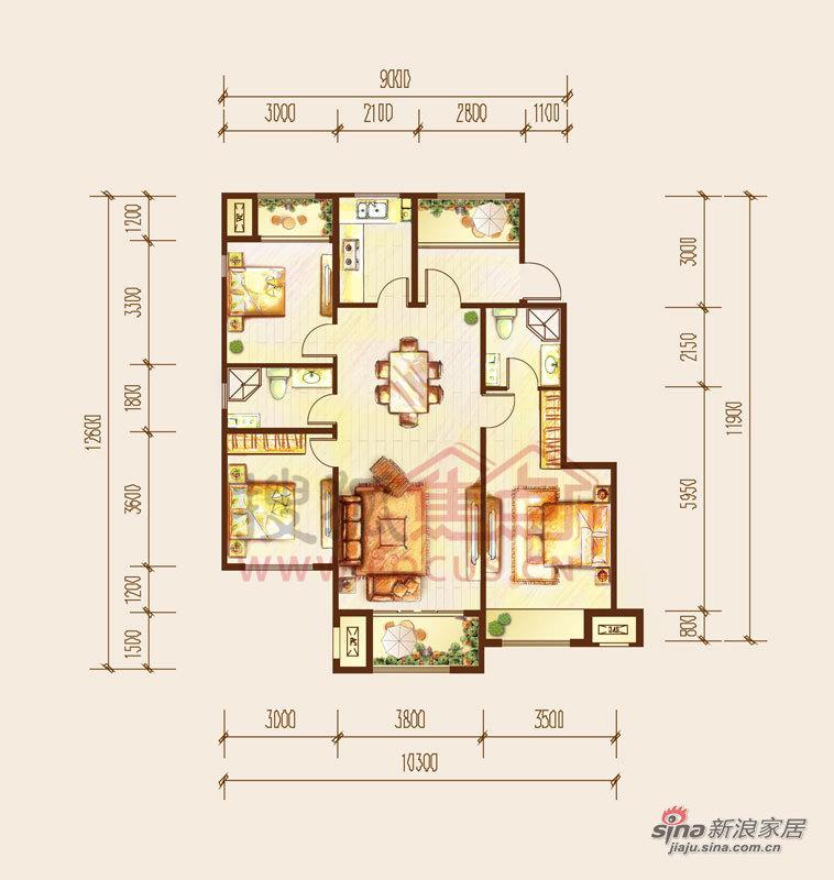 欧式 三居 客厅图片来自用户2746948411在大气典雅欧式装修 体验贵族式奢华14的分享