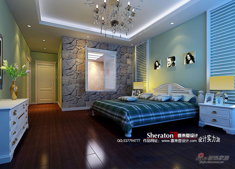 欧式 别墅 卧室图片来自用户2757317061在30万硬装别墅华而不奢的品质81的分享