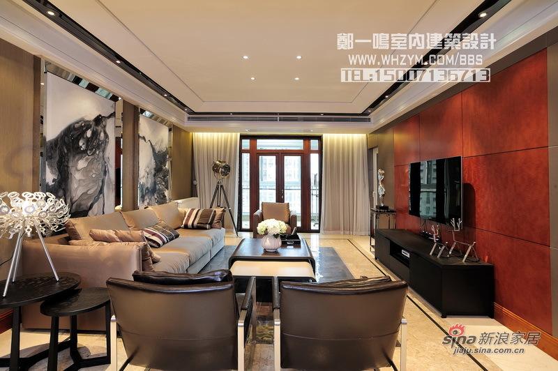 港式 四居 客厅图片来自郑一鸣室内建筑设计工作室在【高清】谦和180平御悦悠然 空间的无限惬意62的分享