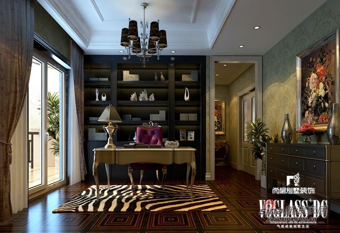 混搭 别墅 书房图片来自用户1907689327在568平新奢华保利垄上14的分享
