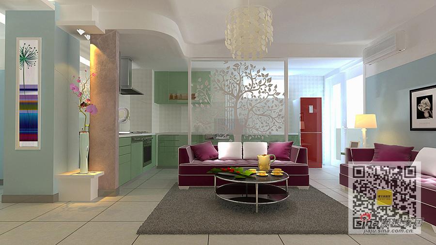 简约 二居 客厅图片来自用户2745807237在怡海花园现代简约两居室53的分享