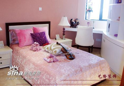 简约 四居 卧室图片来自用户2737786973在艺龙装饰实景三55的分享
