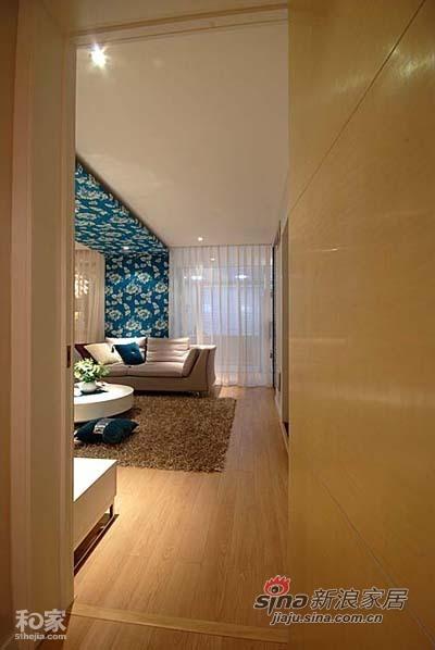 简约 一居 客厅图片来自用户2557010253在5万装100平蓝色简约爱家55的分享