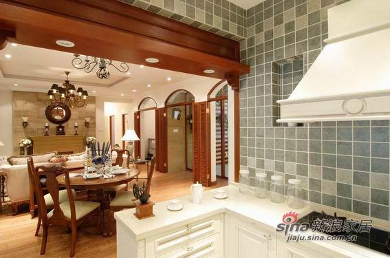 美式 二居 厨房图片来自用户1907685403在9万营造100平美式风格三居79的分享