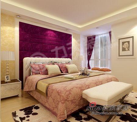 欧式 二居 卧室图片来自阳光力天装饰在85平米时尚高贵两居室57的分享