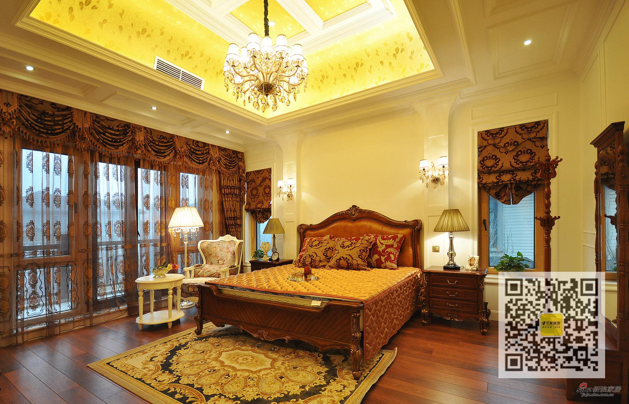 混搭 别墅 卧室图片来自用户1907691673在保利垄上欧式新古典中式新古典混搭93的分享
