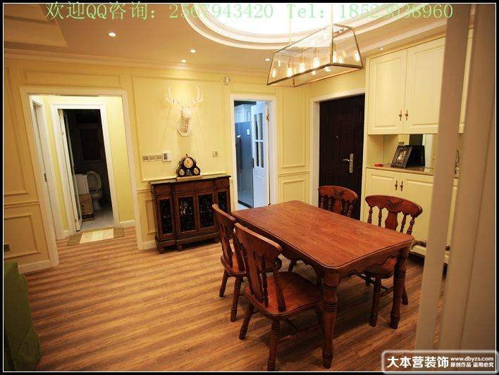 美式 三居 餐厅图片来自用户1907685403在【多图】日月光90平米现代美式风格39的分享