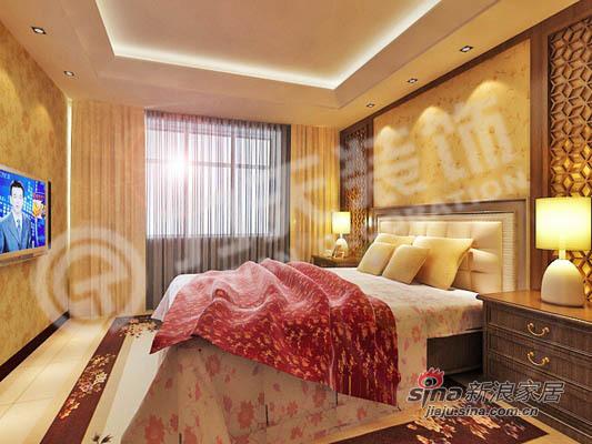 中式 二居 卧室图片来自阳光力天装饰在中式花格月亮门12的分享